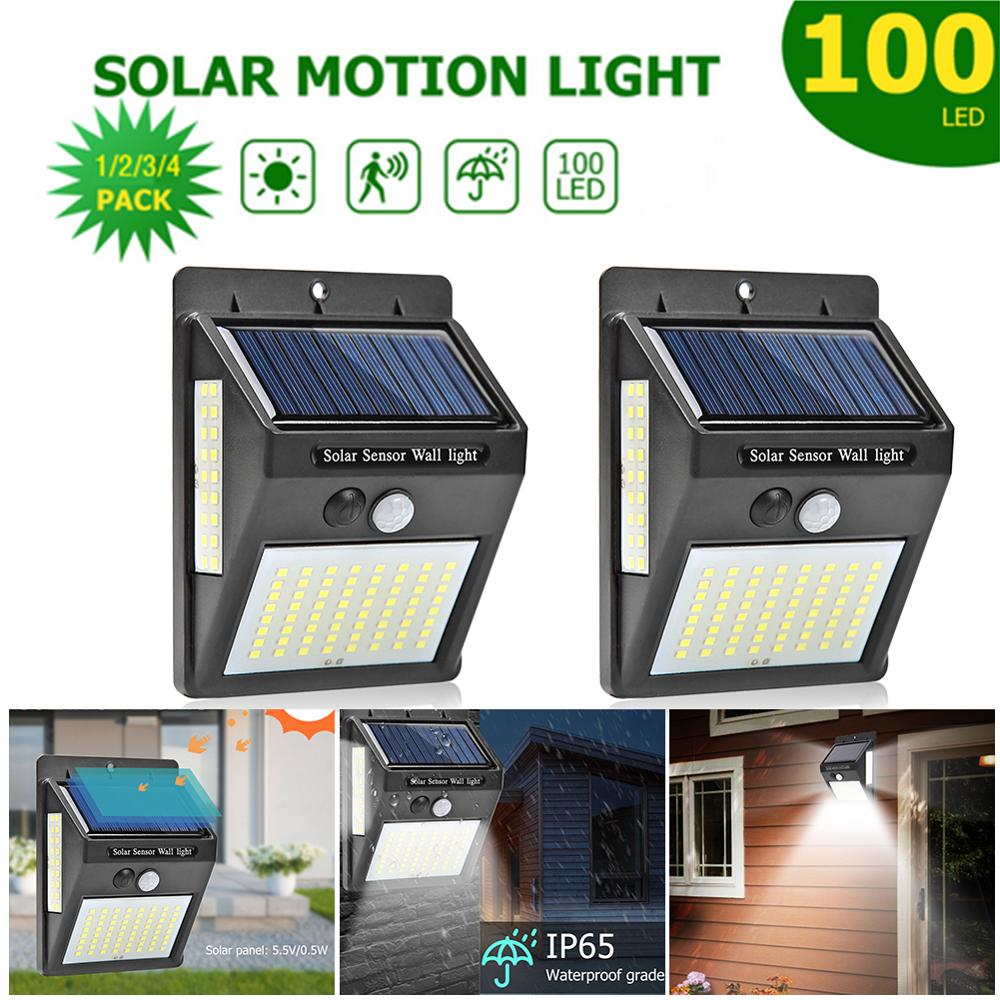 Drop Ship 50/100 LED Solar Light Outdoor Powered Waterproof Motion Sensor Street Light For Garden Decoration Sun Light Charging