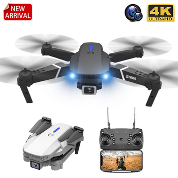 E88 RC Drone With Wide Angle HD 4K 1080P Wifi Fpv Dual Camera Height Hold Foldable Quadcopter Dron Kid's Gift Toy