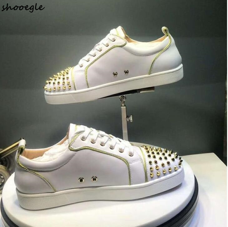 sneakers with gold trim cheap online