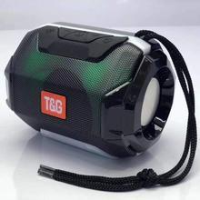 Портативная светодиодная мини Колонка Bluetooth, беспроводная стереоколонка с сабвуфером, уличная басовая музыка, бас, AUX, TF, FM