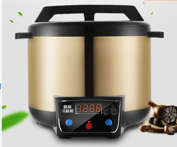 Automatic Black garlic fermenter household DIY zymolysis pot maker 220V black garlic fermenting machine EU US AU UK 110 220v 32 grids commercial electric kanto cooking machine oden machine wooden anti scald spicy hot pot meatball eu au uk us