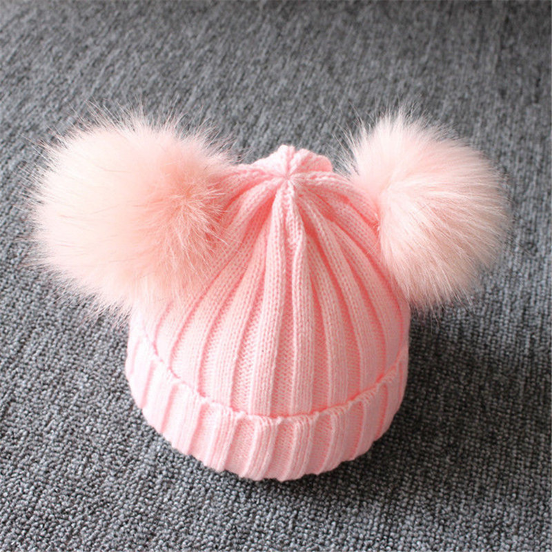 Winter-Warm-Baby-Hat-Double-Furry-Ball-Pompom-Children-s-Cap-Solid-Knit-Cap-For-Girls.jpg_640x640 (3)