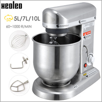 XEOLEO Planetary mixer Food mixer Bread dough mixer Commercial Dough kneading machine with Stainless Steel Bowl 500W 3 speed