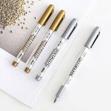 4 шт блестящие золотые и серебряные металлические цветные маркеры