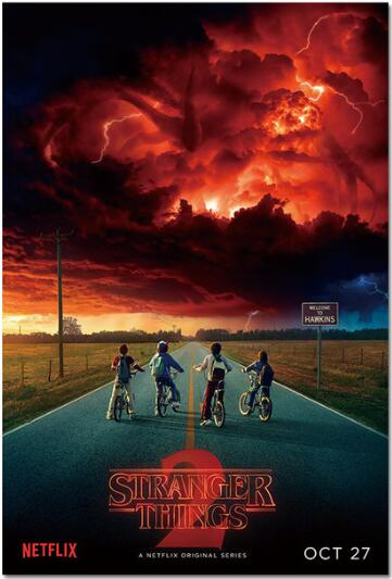 Decorative Painting Poster-Season Stranger Things Movie 24X36INCH 3-1 TV