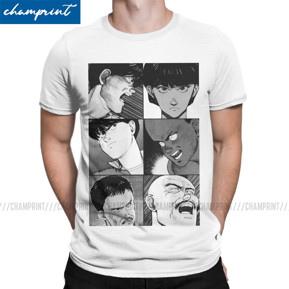 Akira Manga Faces Men T Shirts Kaneda Tetsuo Japan Novelty Tee Shirt Round Collar T Shirts Pure Cotton Classic Clothes T Shirts Aliexpress
