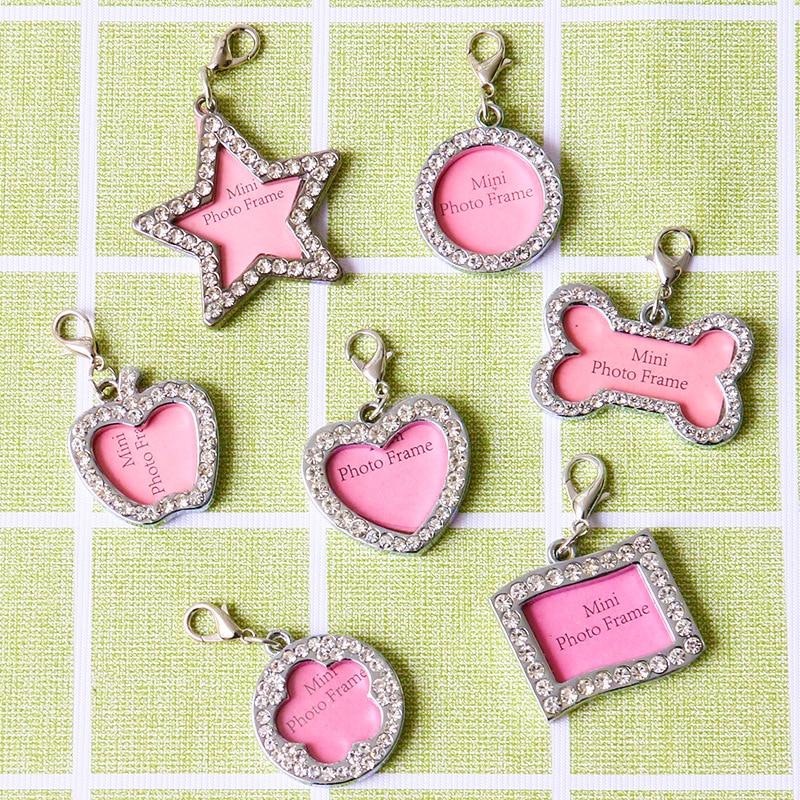 Medium Diamond Set Gu Tou Xing Seven Shape Selectable Dog Tag Pet Collar Necklace Accessories