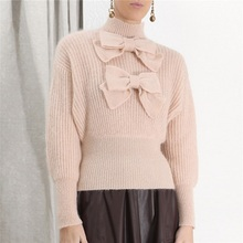 Bow  Turtleneck  Sweater
