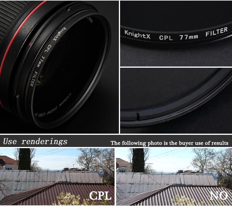 Cavaleiro Hd Mc Uv Mcuv Filtro Para Pentax Sony Nikon D5300 D3300 D3200 D5100 600d 550d 600d Lentes D5500 D7200 49 52mm 58mm 67mm Filtros Para Câmeras Aliexpress