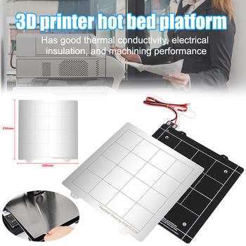 3D Printer Hot Bed Platform Accessories 24V Magnetic Hot Bed Iron Plate Kit AS99