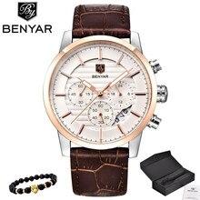 BENYAR Uhr Männer Top Luxus Marke Quarz Sport Uhren Herren Mode Analog Leder Männlichen Wasserdichte Armbanduhr reloj hombre 2019