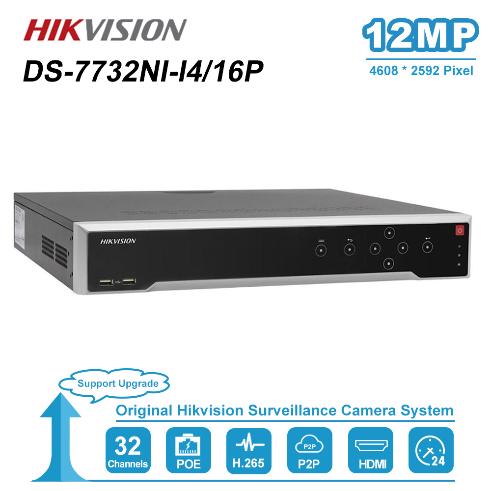 HIK 32 Channel POE NVR DS-7732NI-I4/16P With 16 PoE Ports Support Two-Way Talk Network Video Recorder Up To 12MP Record