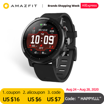 Original Amazfit Stratos Smartwatch Smart Watch Bluetooth GPS Calorie Count Heart Monitor 50M Waterproof