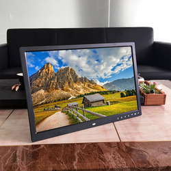 17 inch touch knop digitale fotolijst elektronisch album HDMI HD wall mount display video reclame machine