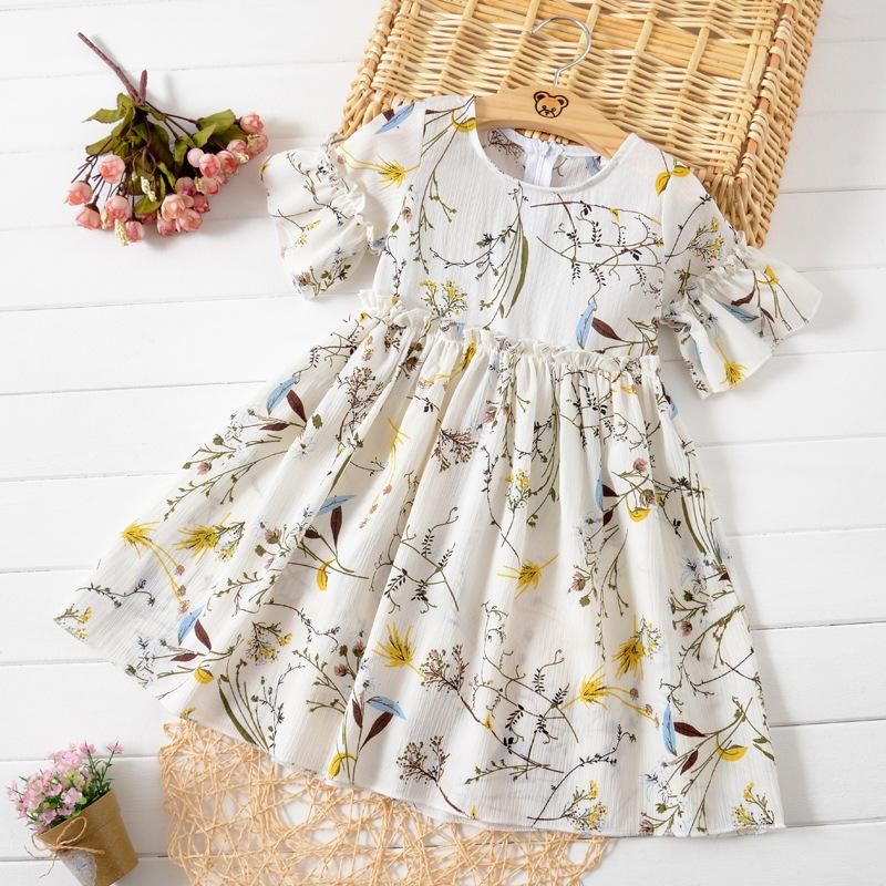 <font><b>Girls</b></font> Princess <font><b>Dress</b></font> <font><b>Summer</b></font> Kids Clothes <font><b>Girl</b></font> New Party Fashion <font><b>Dresses</b></font> Korean Children's Clothing 5 6 7 8 9 10 11 <font><b>12</b></font> <font><b>Years</b></font> <font><b>Old</b></font> image