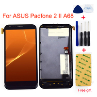For ASUS Padfone 2 II A68 Touch Screen Digitizer Sensor Glass + LCD Display Monitor Module Panel Assembly with Frame Bezel