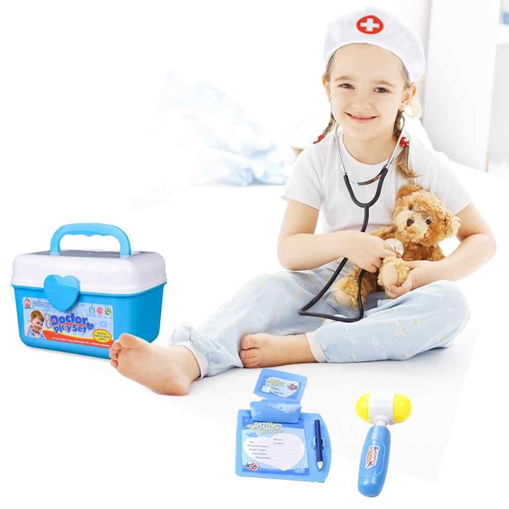 Anak-anak Simulasi Bermain Peran Kostum Dokter Keseluruhan Gaun Putih Perawat Bermain Rumah Pakaian Mainan untuk Anak Mainan