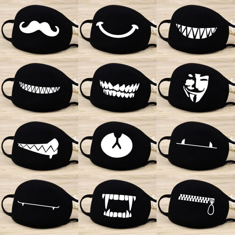 Cute Cartoon Cotton Masks Mask Cosplay Expression Washable Bear Dustproof Keep Warm Masks Props