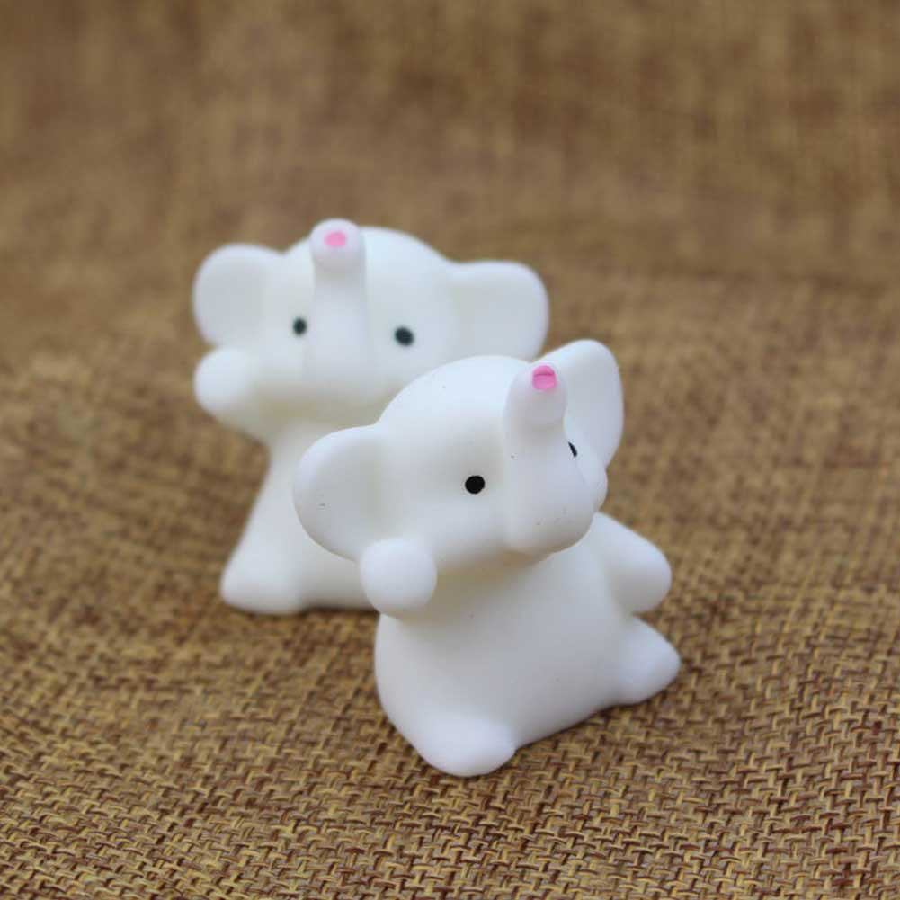 Kuulee Cute Mini Calf Elephant Toy Teen Reduce Pressure Pure Color Desktop Decoration Cartoon Gift