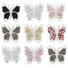 Горячая бабочка стразы патчи термо-Стикеры для одежды на одежде Красочные бабочки железные патчи для джинсов, сумок, футболок DIY