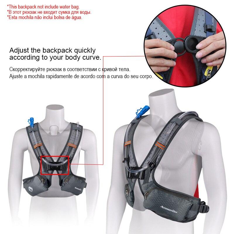 Image 4 - ランニング和のバックパック、防水 5L キャンプ膀胱ウォーターバッグ、通気性スポーツ hydrator サイクリングハイキングバックパック水筒類   -