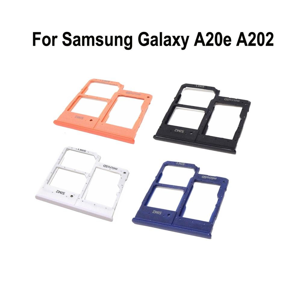 Phone <font><b>SIM</b></font> <font><b>Card</b></font> Tray <font><b>Adapter</b></font> For <font><b>Samsung</b></font> A20e A202 A202F A202DS Original Housing New Micro SD <font><b>Card</b></font> Holder image