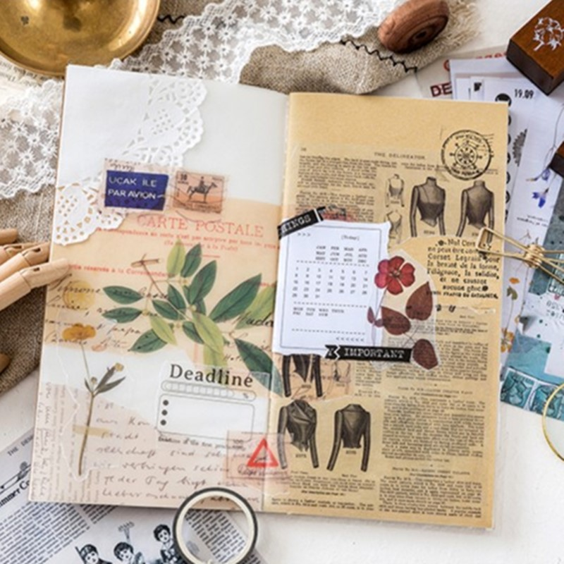 6Sheets Stickers Deco Background Planner Paper Material DIY Craft Bullet Journal