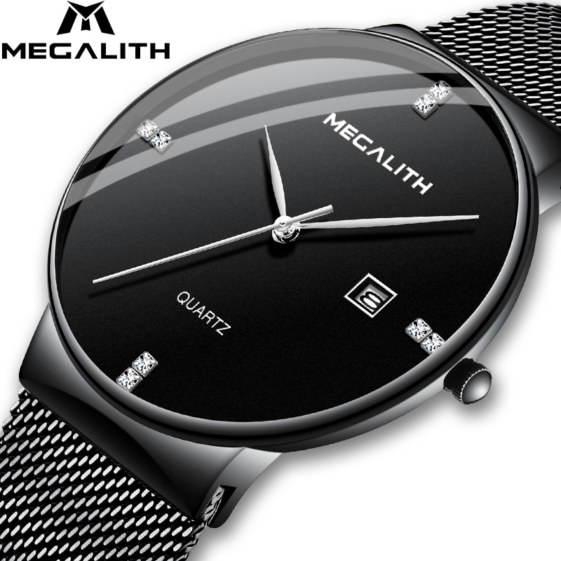 MEGALITH Men Watches Top Brand Luxury Waterproof Fashion WristWatches Quartz Clock Men Sport Casual Relogio Masculino Wholesale