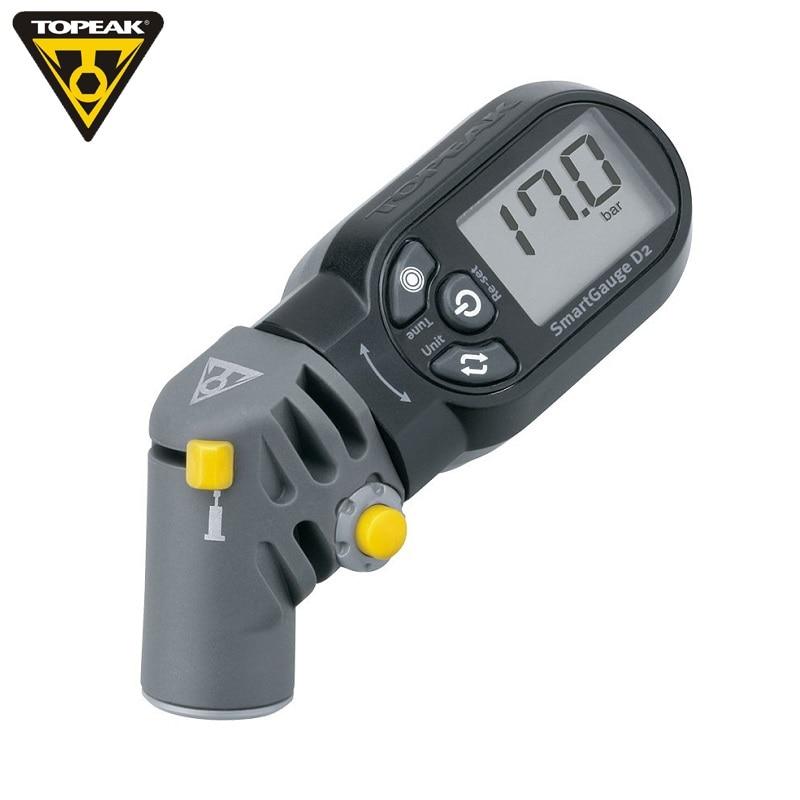 TOPEAK TSG-02 Bicycle Tire Pressure Gauge MTB Inflation Tyre Electronic Pressure Gauge Road Bike Digital LCD Smart Head Gauge