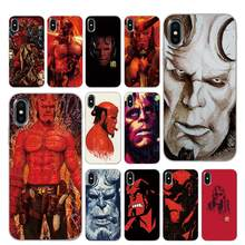 hell boy Silicone Phone Cases for iPhone 5 5S SE 6 6s 7 8 Plus X XS Max XR Back Cover(China)