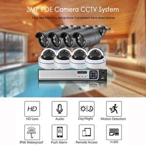 Image 2 - Gadinan 8CH 5MP NVR Kit H.265 3MP Audio IP Camera System Security Camera IR Outdoor Waterproof CCTV Video Surveillance NVR Set