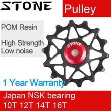 Roda de polia de pedra guia traseiro do rolo jóquei 10t 12t 14t 16t rolamento estrada mtb desviador da bicicleta rolamentos traseiro gx x01 águia