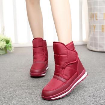 2018 New Arrive Women Boots Non-slip Ankle Boots Women Warm Snow Boots Waterproof Shoes Flat Platform Shoes Plus Size 35-41
