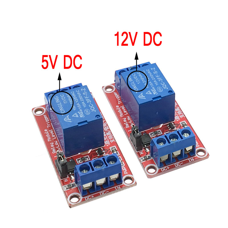 One 1 Channel 5/12V Relay Module Board Shield for Arduino with Optocoupler Support High and Low Level Trigger