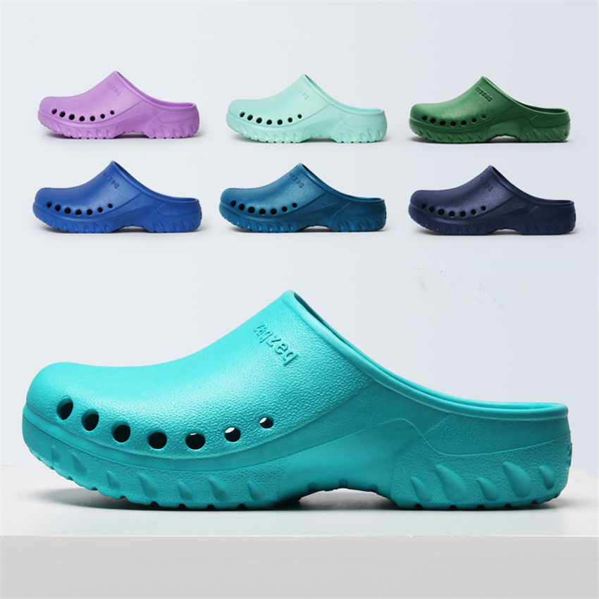 Medical Shoes Hospital Scrub Accessories Solid EVA Light Non-slip Nurse Clogs For Women Doctor Scrubs Work Wear Slippers