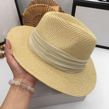 Chapeaux de soleil en paille coréenne, chapeau élégant polyvalent, chapeau de soleil pliable pour les vacances