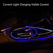 Cable USB de carga rápida para móvil, Cable usb de carga rápida tipo C con luz LED para XiaoMi, Huawei, Samsung S9, S8