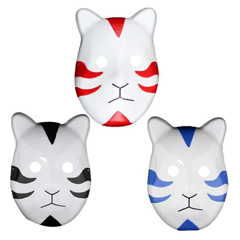 3 kolor Naruto Kakashi Anbu w stylu Ninja maska, fantazyjny strój, akcesoria Cosplay, kostium Halloween Anime Manga