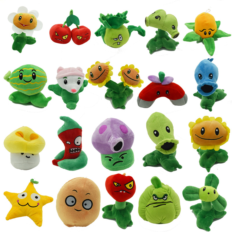 13-20cm Plants Vs Zombies Plush Toys PVZ Soft Stuffed Plush Toys Cotton Doll Baby Toy For Kids Gifts
