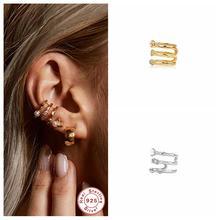 Echt 925 Sterling Silber ohrringe erfüllt clips Ohrring Für Frauen Clip Auf Ohrringe Earcuff Faux Piercing Ohrringe Feine Schmuck