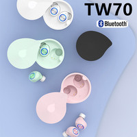 TW70 Bluetooth5.0 Earphone Wireless Earbuds Hands free Business Driving Sport 5D stereo surround sound With charging box