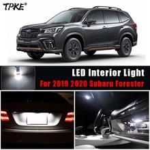 TPKE 8Pcs White Canbus LED Lamp Car Bulbs Interior Kit For 2019 2020 Subaru Forester Map Dome Trunk License Plate Light