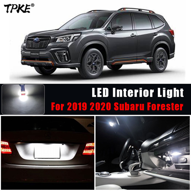 TPKE Lámpara LED Canbus blanca para Interior de coche, Kit de bombillas para Subaru Forester, mapa, domo para maletero o matrícula, 2019 2020, 8 Uds.