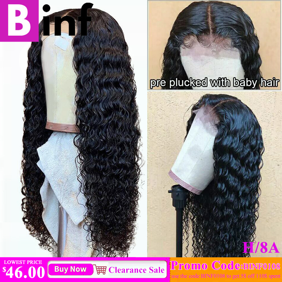 13x6 Deep Wave Lace Front Human Hair Wigs Pre Plucked Hairline 13x4 Lace Front Wig 8-24 Inch Brazilian Remy Hair For Black Women