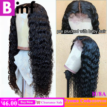 13x6 Deep Wave Lace Front Human Hair Wigs Pre Plucked Hairli