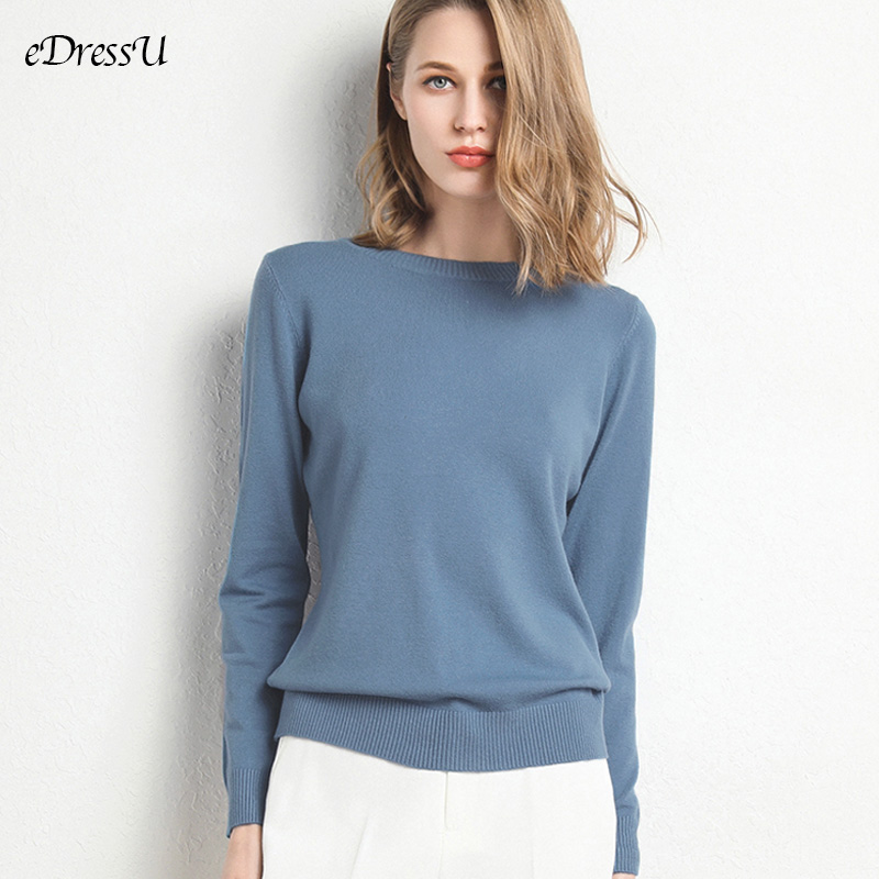 13 Colors Sweater Women Pullover O Neck Simple Autumn Winter Knitwear Yellow Camel Sweaters Korean Casual Office Jumper CR-JM001