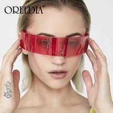 Fashion Mirror Pink Silver Goggle Sunglasses Men Women Luxury Personality One Piece Glasses Mask Eyeglasses oculos feminino