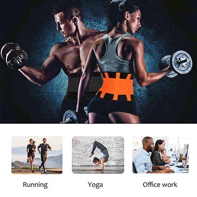 2019 New Adjustable Waist Support Belt Women And Men Waist Trimmer Belt Gym Train Waist Protector Fitness Belt 5