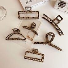 Заколка для волос с леопардовым принтом змеи Модный Ретро стиль
