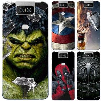 Перейти на Алиэкспресс и купить Супергерой чехол для телефона чехол для Asus Zenfone 6 ZS630KL ZS 630KL I01WD 2019 Супермен задняя крышка для Asus Zenfone 6 2019 ZS630KL